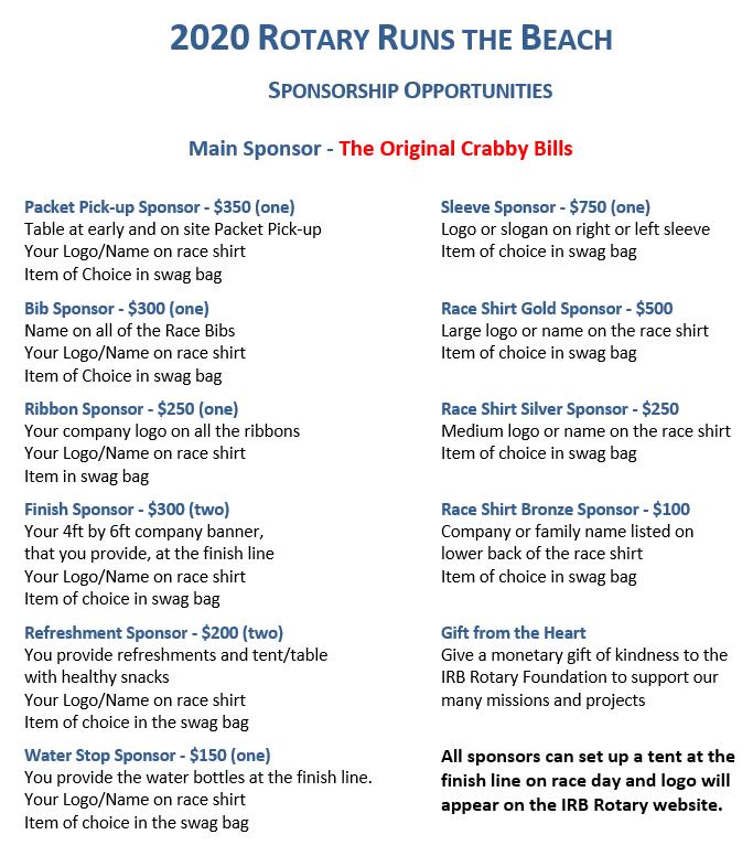 RRTB 2020 Sponsorships